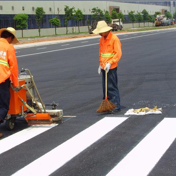 道路斑马线施工