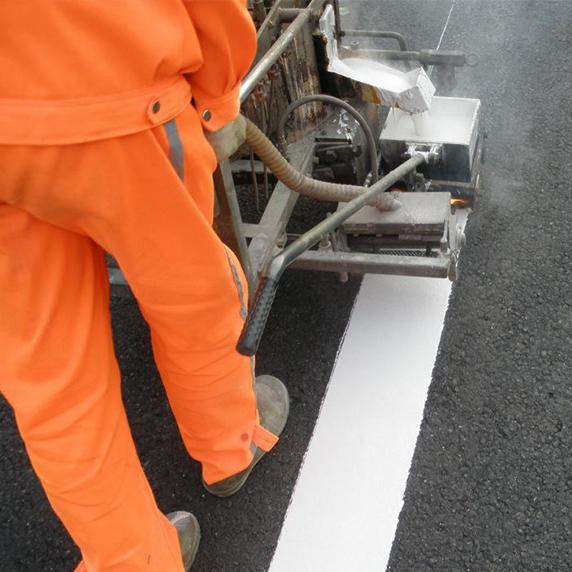 热熔标线施工
